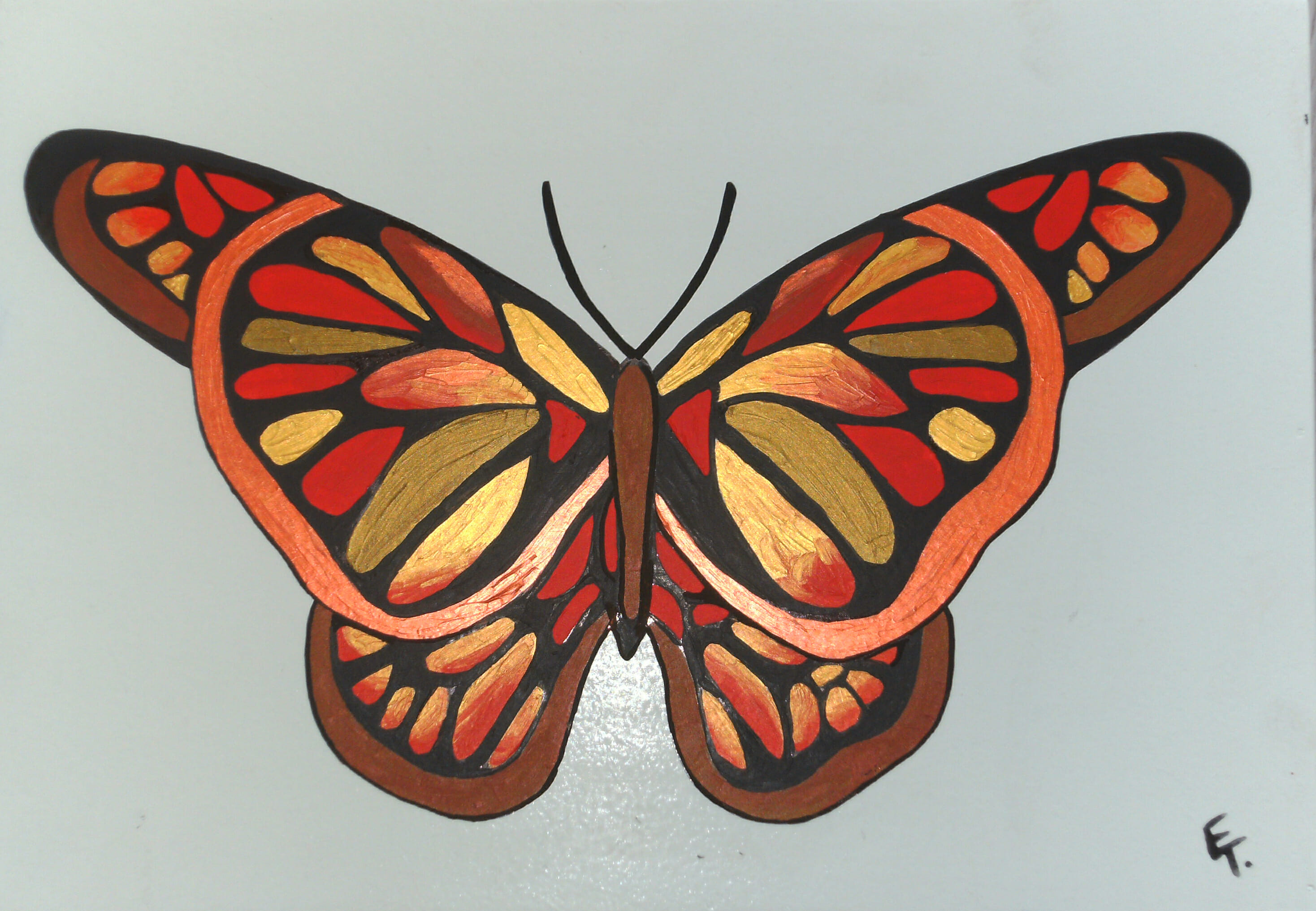 Red Butterfly kist